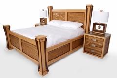 Ambient Wave Bed in Zebra Wood by Jarrett Maxwell - Geometric Innovations LLC-001