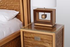 Ambient Wave Bed in Zebra Wood by Jarrett Maxwell - Geometric Innovations LLC-002