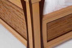 Ambient Wave Bed in Zebra Wood by Jarrett Maxwell - Geometric Innovations LLC-003
