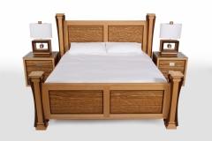 Ambient Wave Bed in Zebra Wood by Jarrett Maxwell - Geometric Innovations LLC