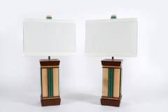 Aqua Undertone Lamps by Jarrett Maxwell - Geometric Innovations LLC
