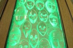 Bill Hawk Art Glass with Stand by Jarrett Maxwell - Geometric Innovations LLC-001